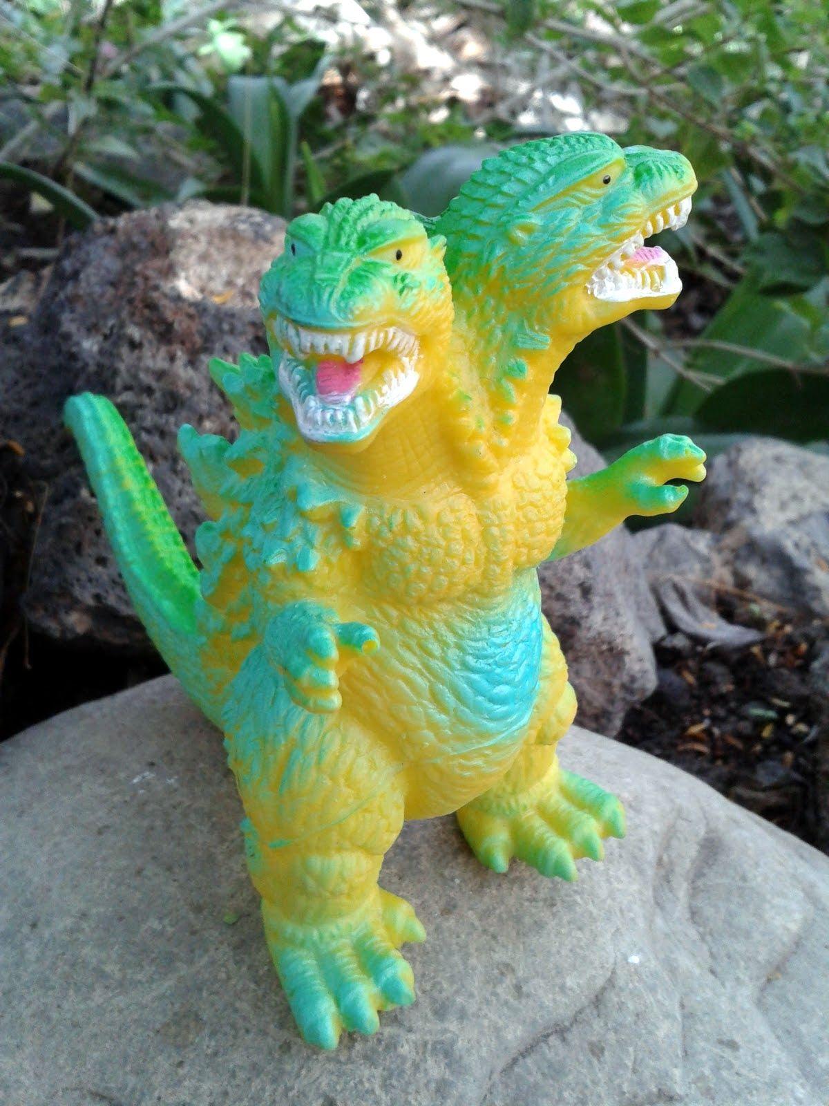 2 Headed Godzilla Bootleg Knock Off Bootleg Toys Godzilla Toys Art Toy