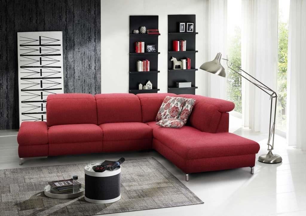 Wohnlandschaft von #Himolla #Polstermöbel #Sofa #rot #Wohnzimmer - wohnzimmer rot orange