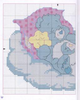 ENCANTOS EM PONTO CRUZ grumpy bear cross stitch