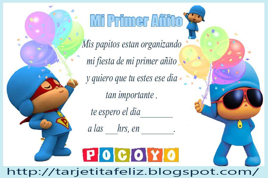 Invitaciones De Cumpleaños De Pocoyo Para Poner De Fondo 2