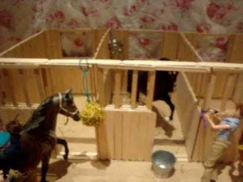 Popsicle Stick Breyer Barn