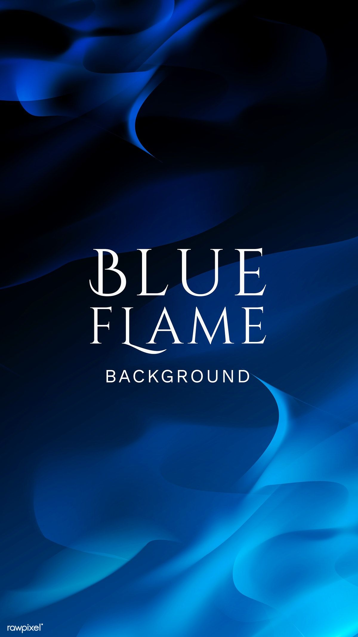 Blue blazing flame abstract background vector free image