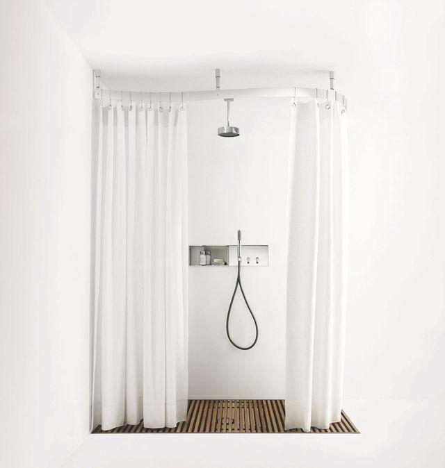 douche avec ou sans parois id es pour la maison pinterest rideaux en lin rideaux de. Black Bedroom Furniture Sets. Home Design Ideas