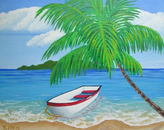 """paintings of palm trees 