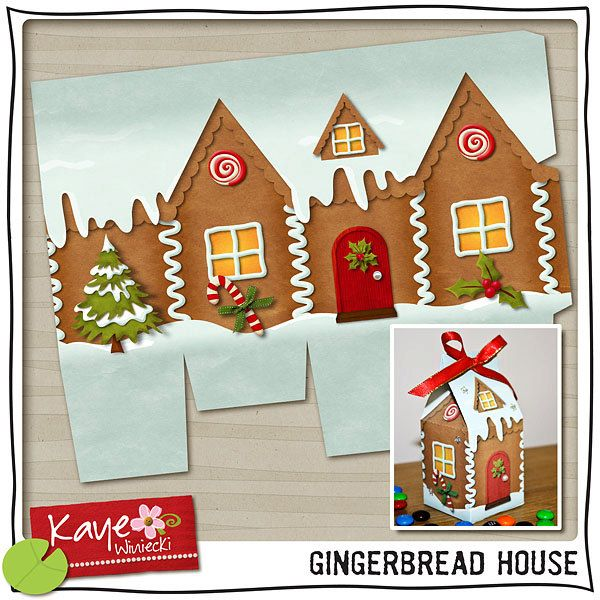 Gingerbread house printable milk carton craft play Make your own gingerbread house online