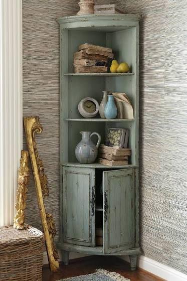 Charming Corner Cabinet Tall