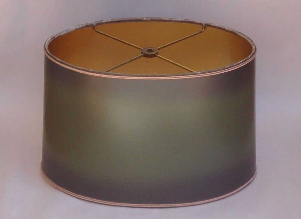 Vintage Stiffel Oval Bouillotte Lamp Shade Replacement Green