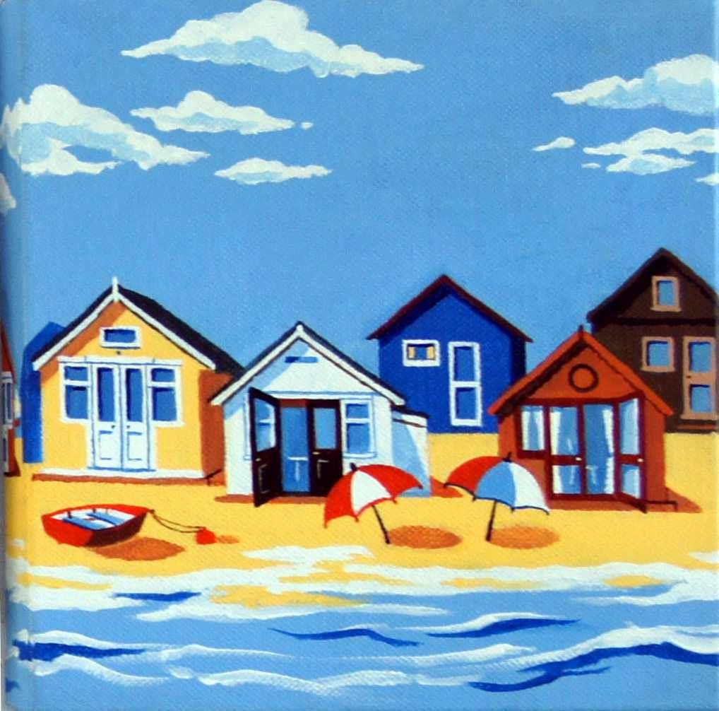 Beach Hut Canvas Paintings Google Search Beach Huts Art