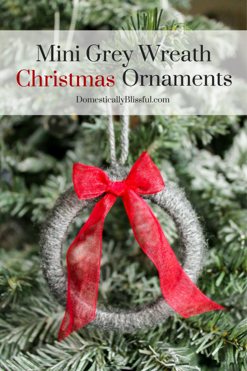 Create These Adorable Mini Grey Wreath Christmas Ornaments From Soft Yarn  For Your Christmas Tree This · Christmas Decoration CraftsDiy ...