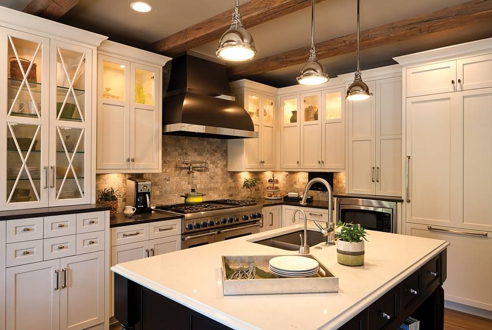 Describe This Kitchen In One Word Dura Supreme Cabinetry Used Both Raven And Misty Carrera Countertops To Make Truly Unique