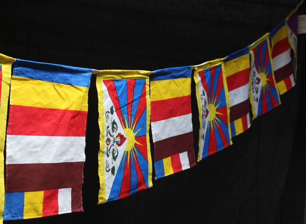 Dharmashop.com - Tibetan Flag and Universal Buddhist Prayer Flags , $35.00 (http://www.dharmashop.com/tibetan-flag-and-universal-buddhist-prayer-flags/)