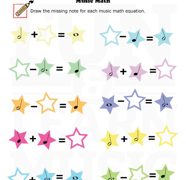 Fun And Learn Music Music Worksheets Music And Math Music Math Music Worksheets Music Theory Worksheets
