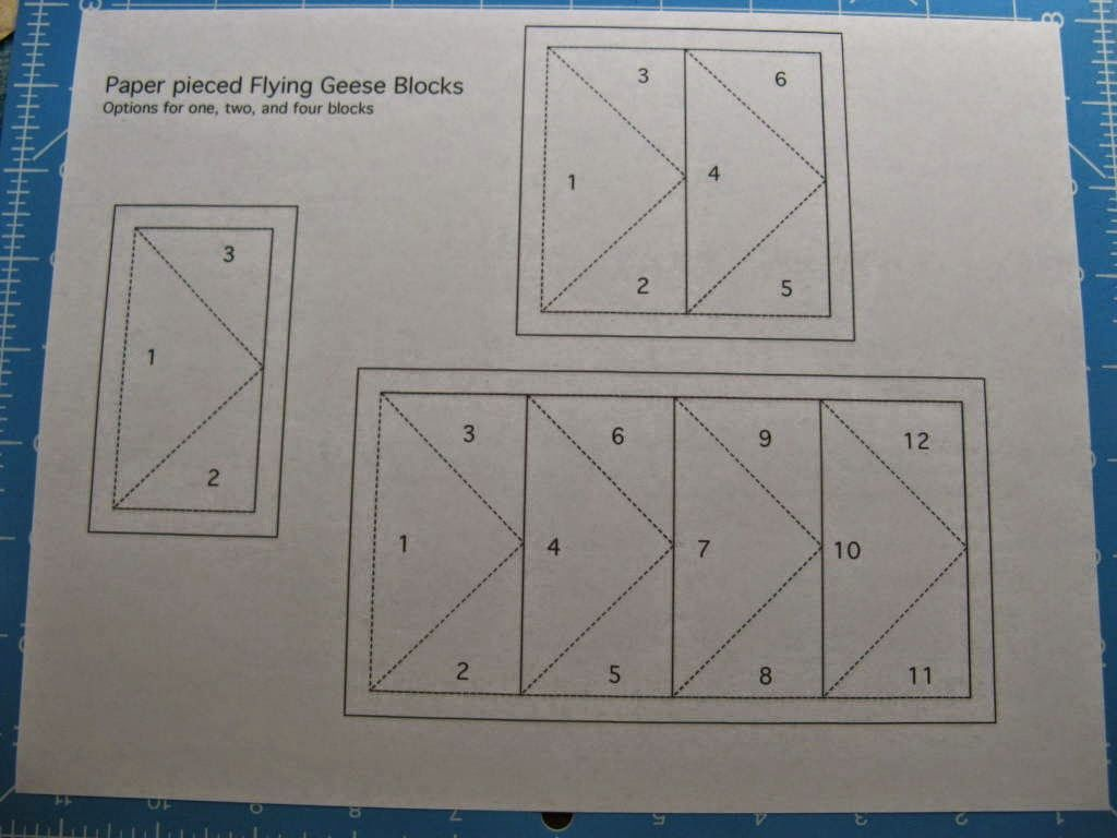 Stitching With 2 Strings: Flying geese made with easy paper ... : paper pieced flying geese quilt patterns - Adamdwight.com