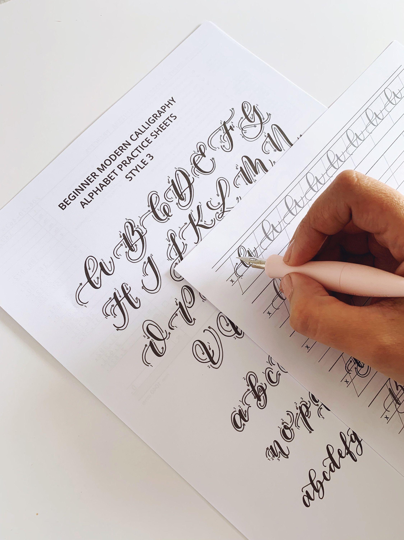 Modern Calligraphy Practice Alphabet Printable