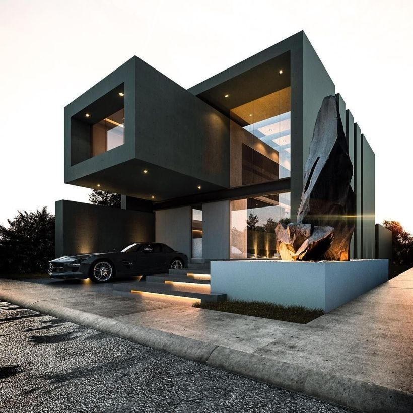 Trailer Home Designs Ideas Now Permit S Find 20 Remarkable Minimalist Houses Design Every One As Fasci Black House Exterior Architecture Design Architecture