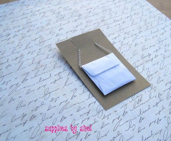 100 white 2x2 envelopes necklace card by suppliesbyshel on etsy items similar to 100 white envelopes necklace card envelopes and glue dots on etsy reheart Images
