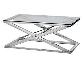 Table Basse Acier Et Verre Argente Et Transparent 97 56 Table Basse Acier Table Basse Table Basse Verre
