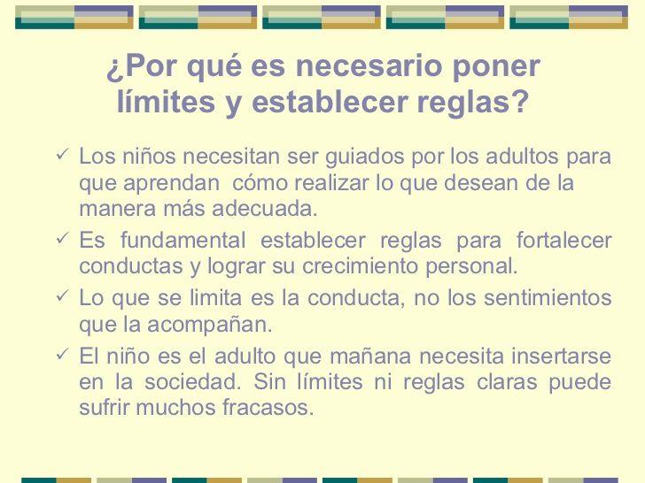 Por qué es necesario poner límites y establecer reglas? | Limites ...