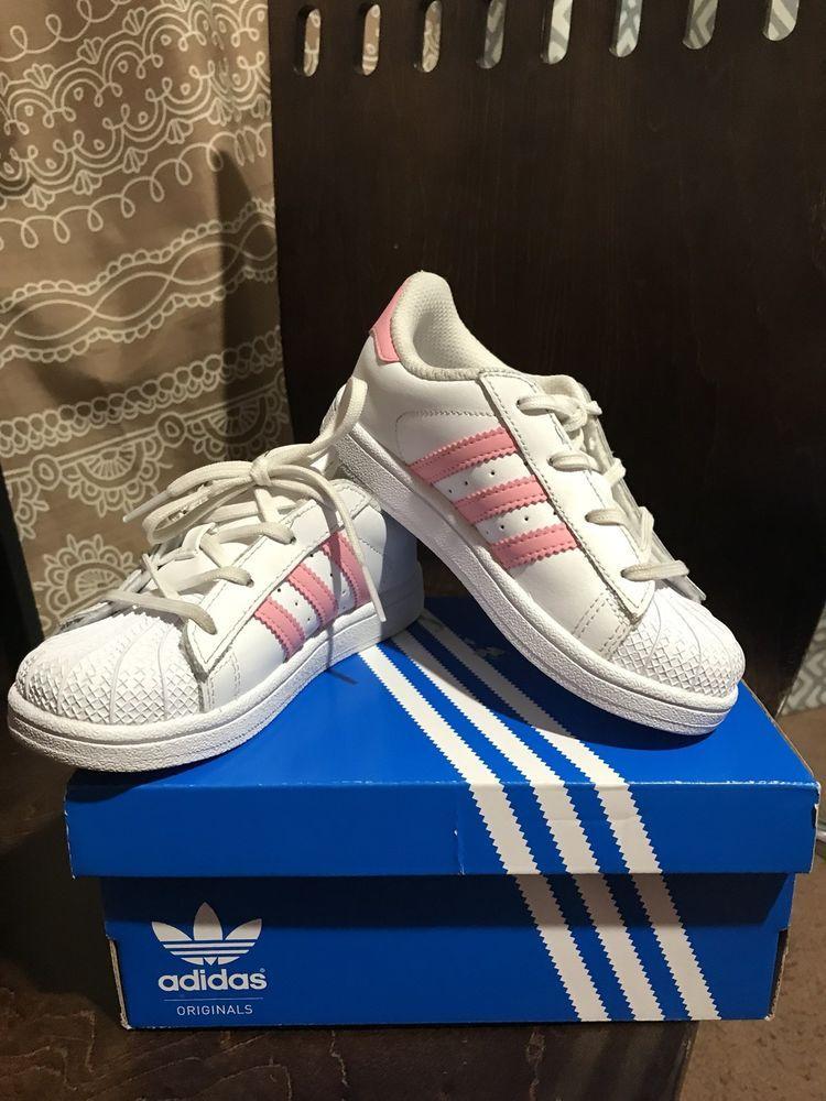 140540753e7 Adidas Superstar Size White and Pink Girls Size 10k Ortholite  fashion   clothing  shoes  accessories  kidsclothingshoesaccs  girlsshoes (ebay link)