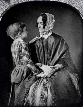 Jane Means Appleton Pierce (1806-1863)  They had two children.  Frank Robert (1839-1843) and shown here is Benjamin (1841-1853) After the deaths of her children, she was overcome with melancholia and distanced herself during her husband's presidency. She never recovered from the tragedy. For nearly two years, she remained in the upstairs living quarters of the White House. She left the social chores to her aunt Abby Kent-Means and her close friend Varina Davis, wife of Jefferson Davis.