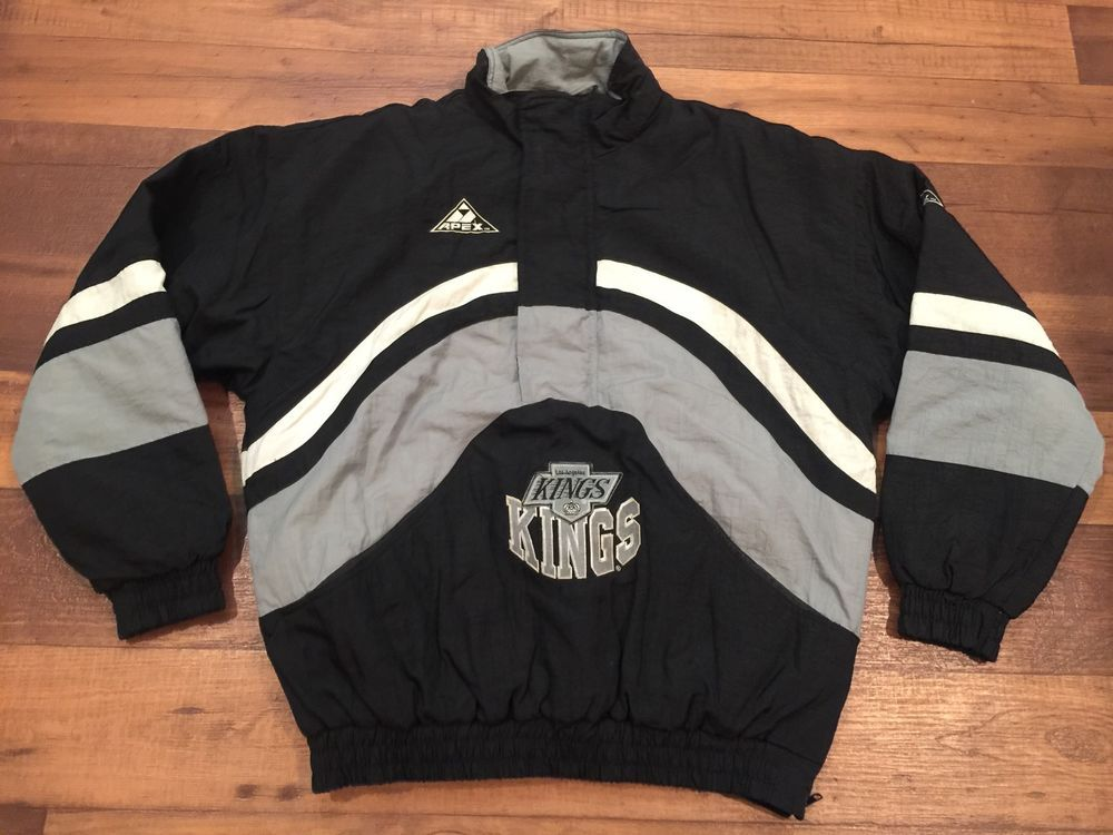 Vintage Apex One La Kings Hockey NHL Pullover Jacket 3 4 Zip Medium RARE  90s M  f66f006eb