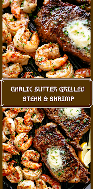 #recipes Berita Masak: GARLIC BUTTER GRILLED STEAK & SHRIMP