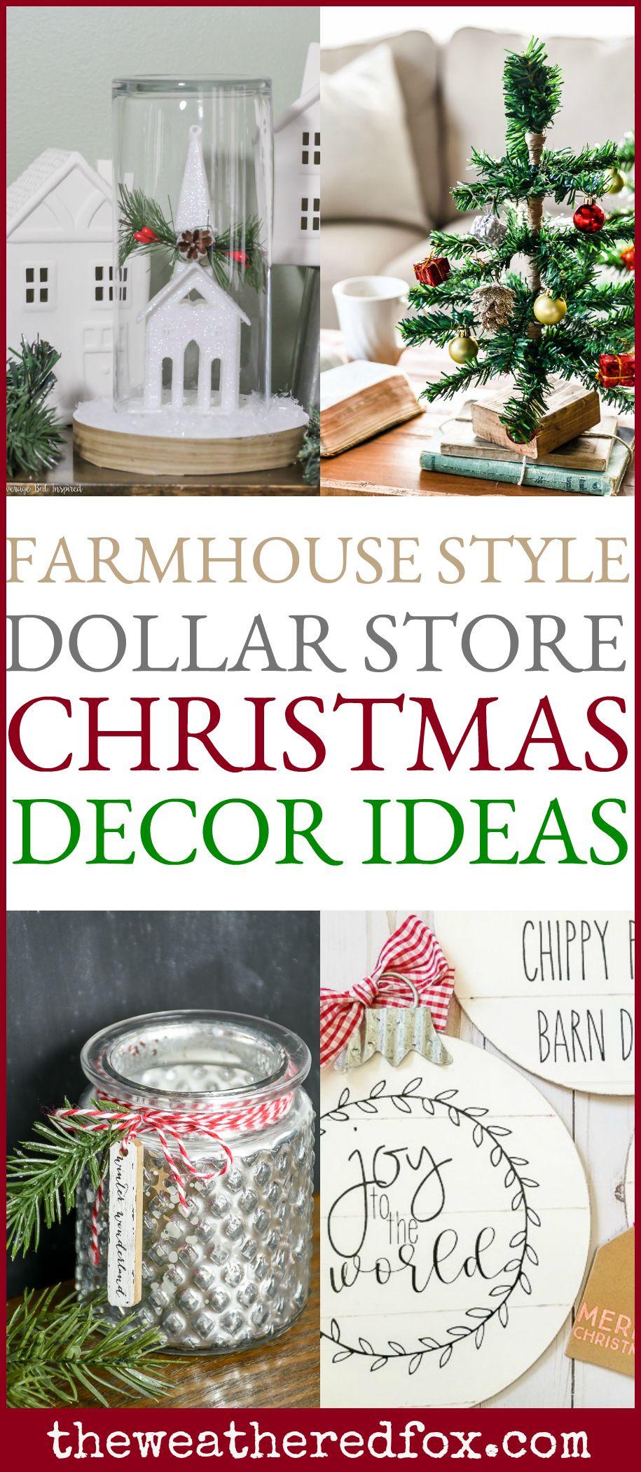 Dollar Store Christmas Decor Ideas Dollar Store Christmas