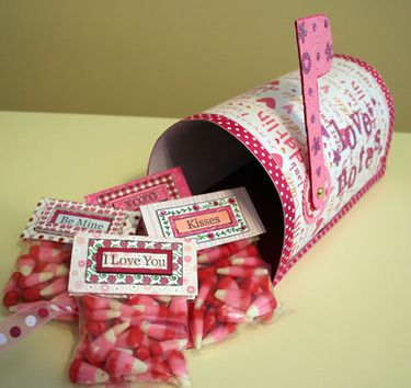 Made this last year with Ada. Turned out GREAT!  Super cute and easy. MYO Valentine card mailbox.