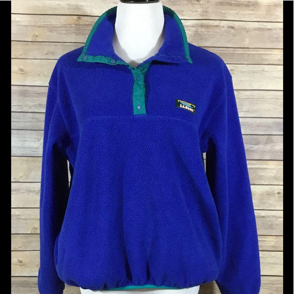 Vintage ll bean womenus fleece pullover jacket products