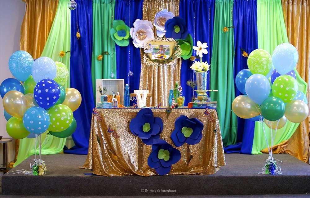 Krishna Theme Birthday Party Ideas Photo 2 of 25