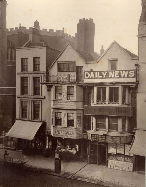 Fleet St., Victorian London, workplace of the tenacious reporter Henry Hales, whose investigation sparked the biggest scandal of the 1880s.