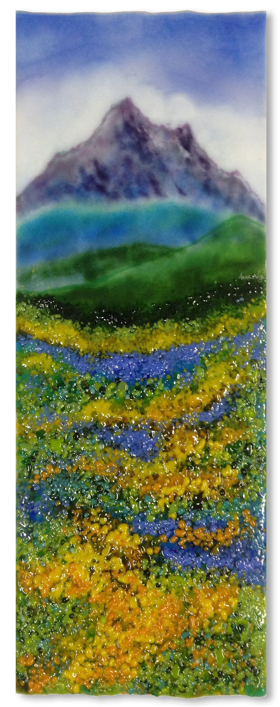 Mountain Meadow by Anne Nye: Art Glass Wall Art available at www.artfulhome.com