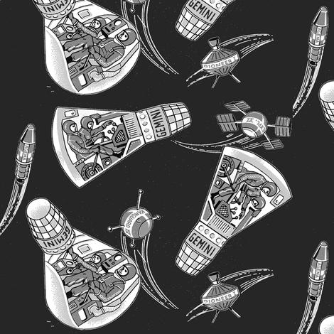 retro rockets grey by craftyscientists
