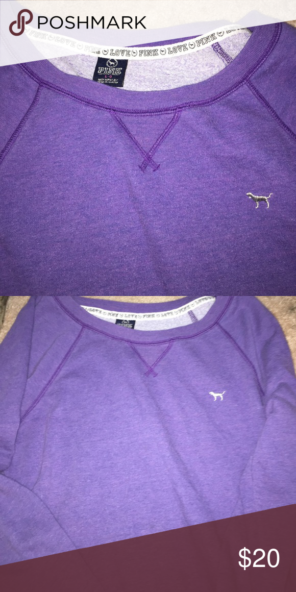 Purple long sleeves Victoria secret pullover Purple, long sleeves, 60% cotton, 40% polyester PINK Victoria's Secret Sweaters