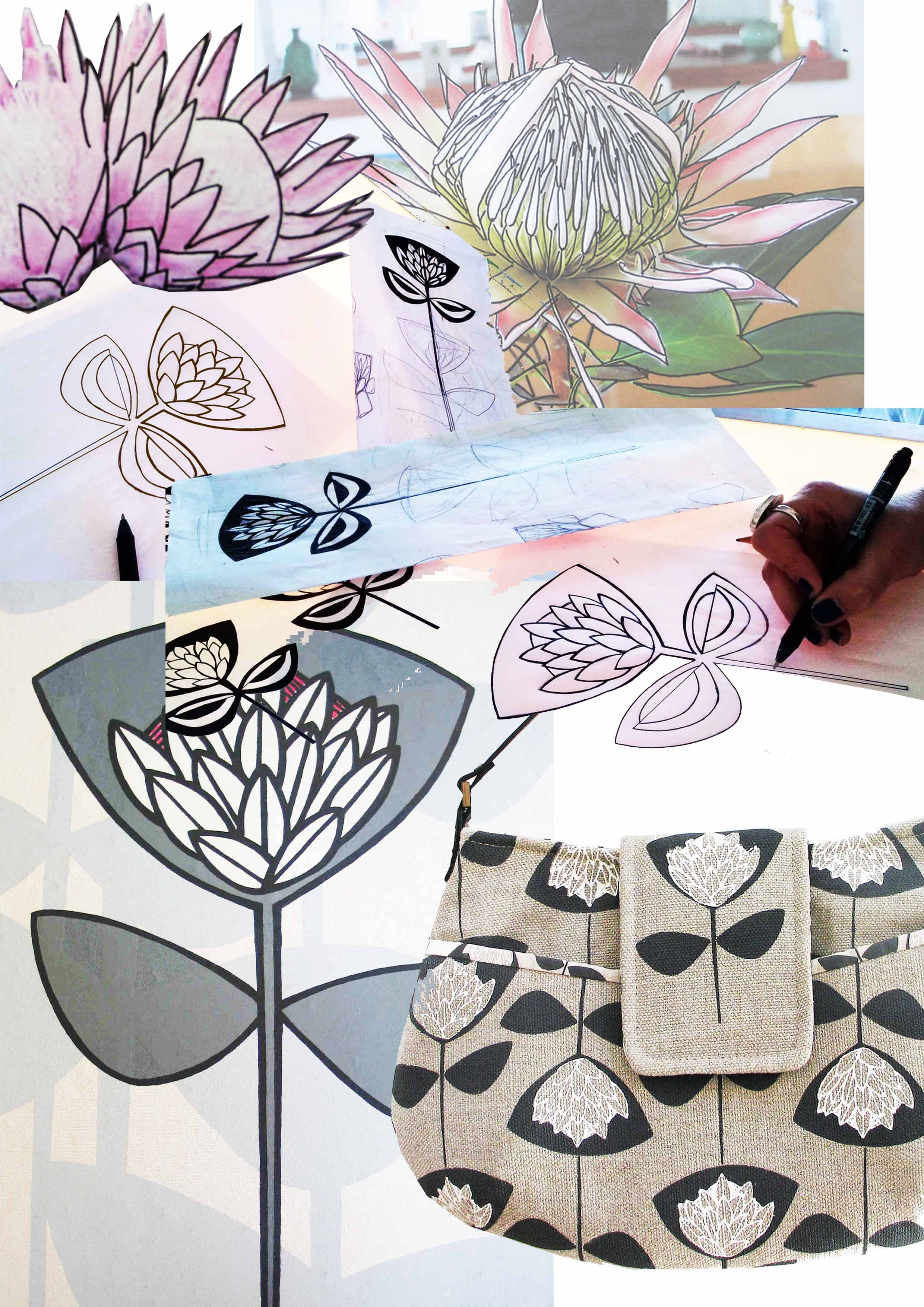 Sq Worked Into King Protea Flower Www Suziequ Co Uk Screen Printing Inspiration Protea Flower Screen Printing