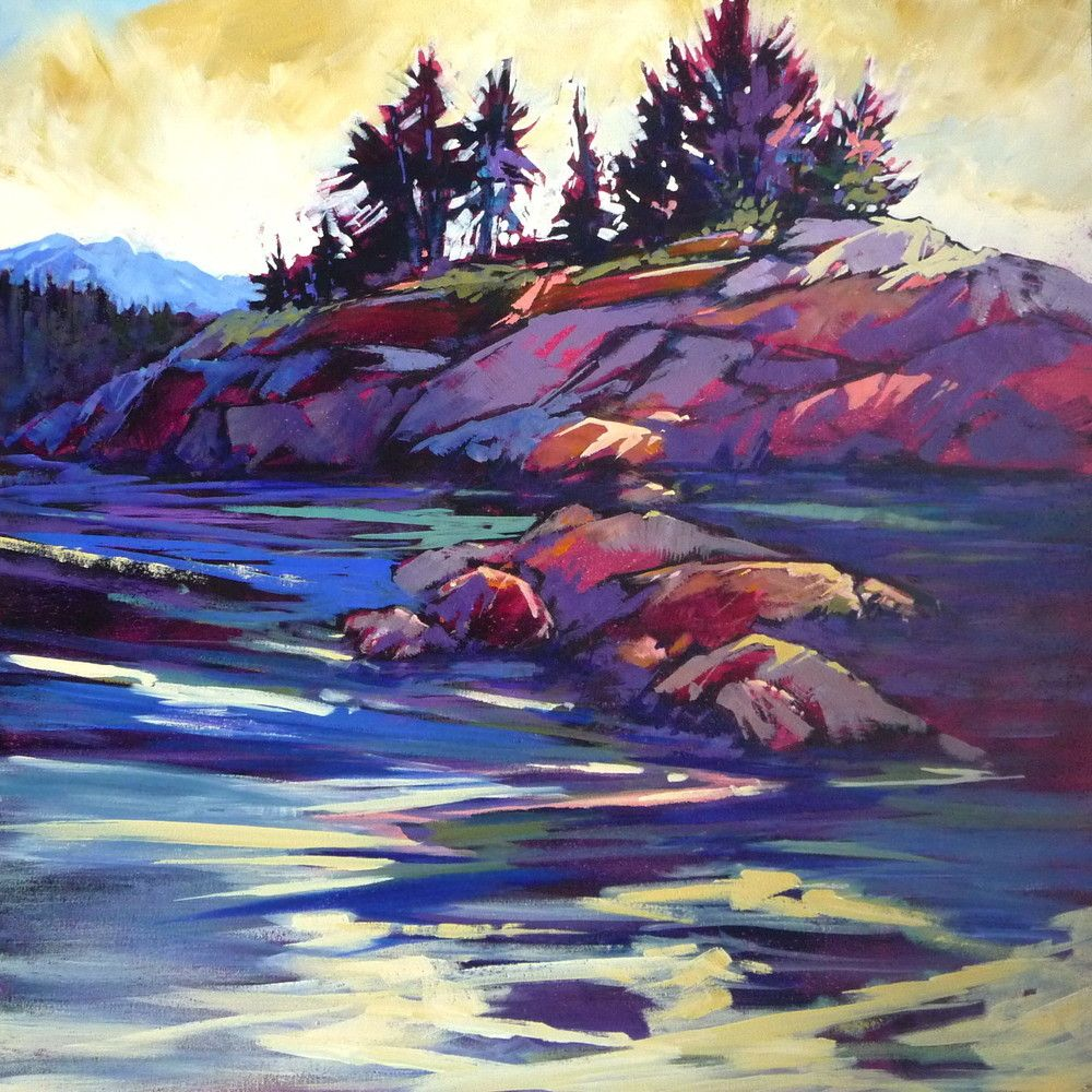 30 X30 Acrylic On Deep Canvas This Is In Pender Harbour On B C