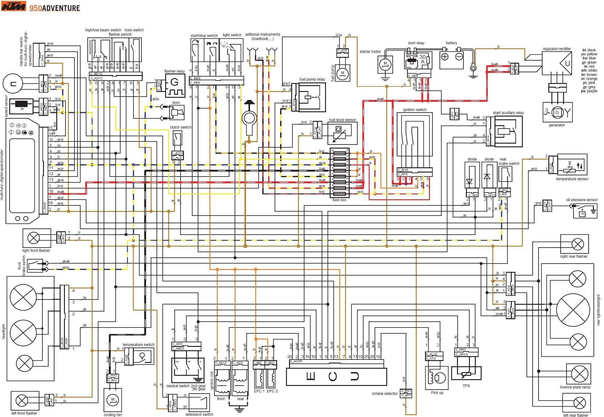 Ktm Electrical Wiring Diagrams 4strokes Com And Ktm 450