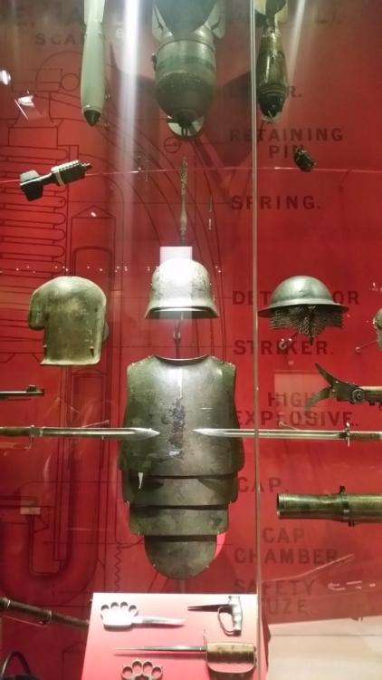 German mortar grenades and body armor