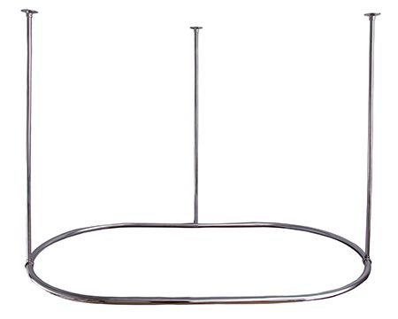 Barclay Oval Shaped Ceiling Mounted Shower Rod In Chrome