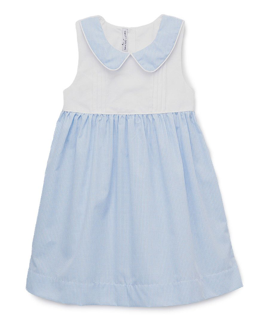 Look at this Sweet Dreams Blue Gingham Shayla Dress - Infant, Toddler & Girls on #zulily today!