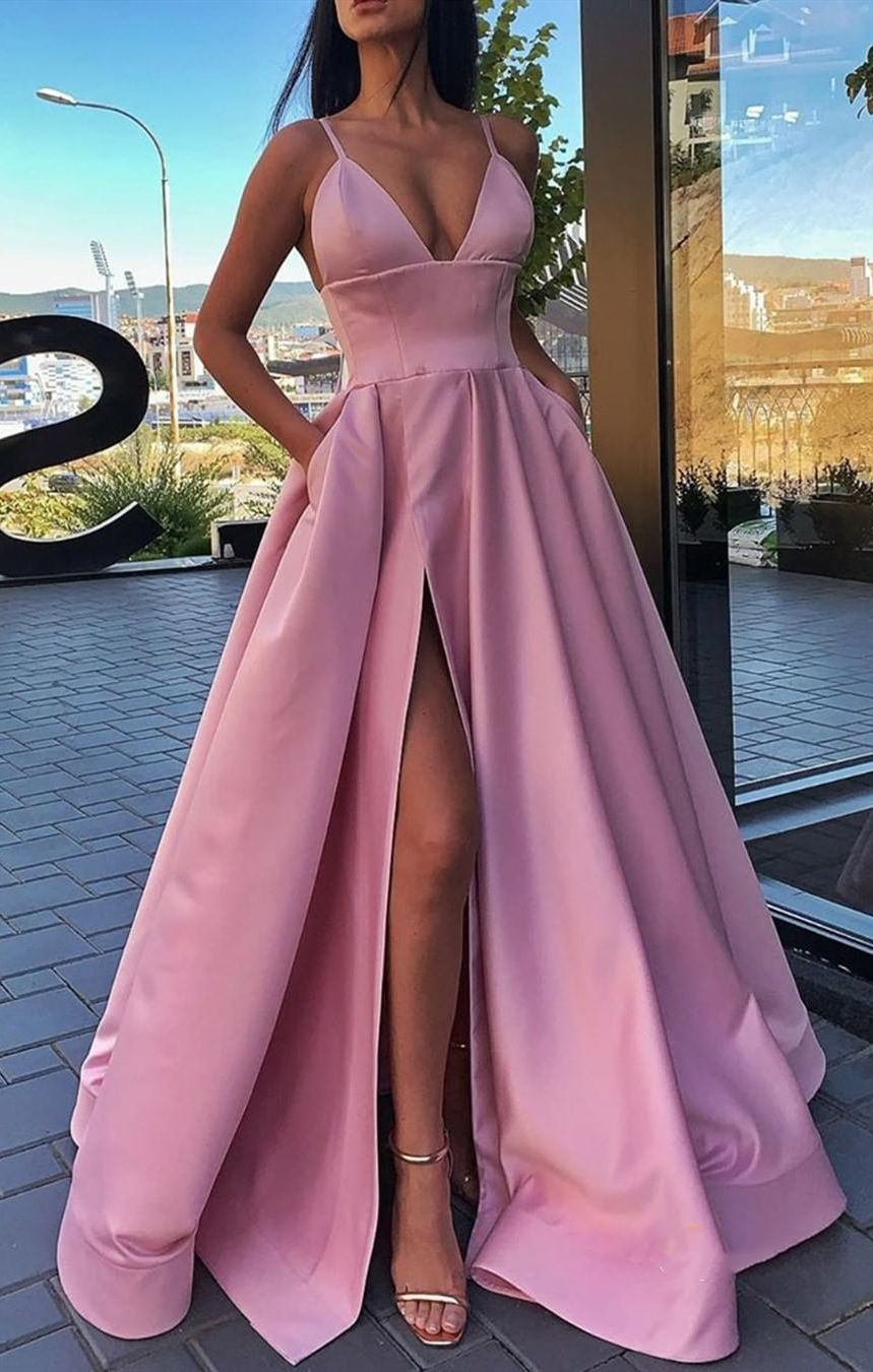 Hot Pink Prom Gown. ��‍️