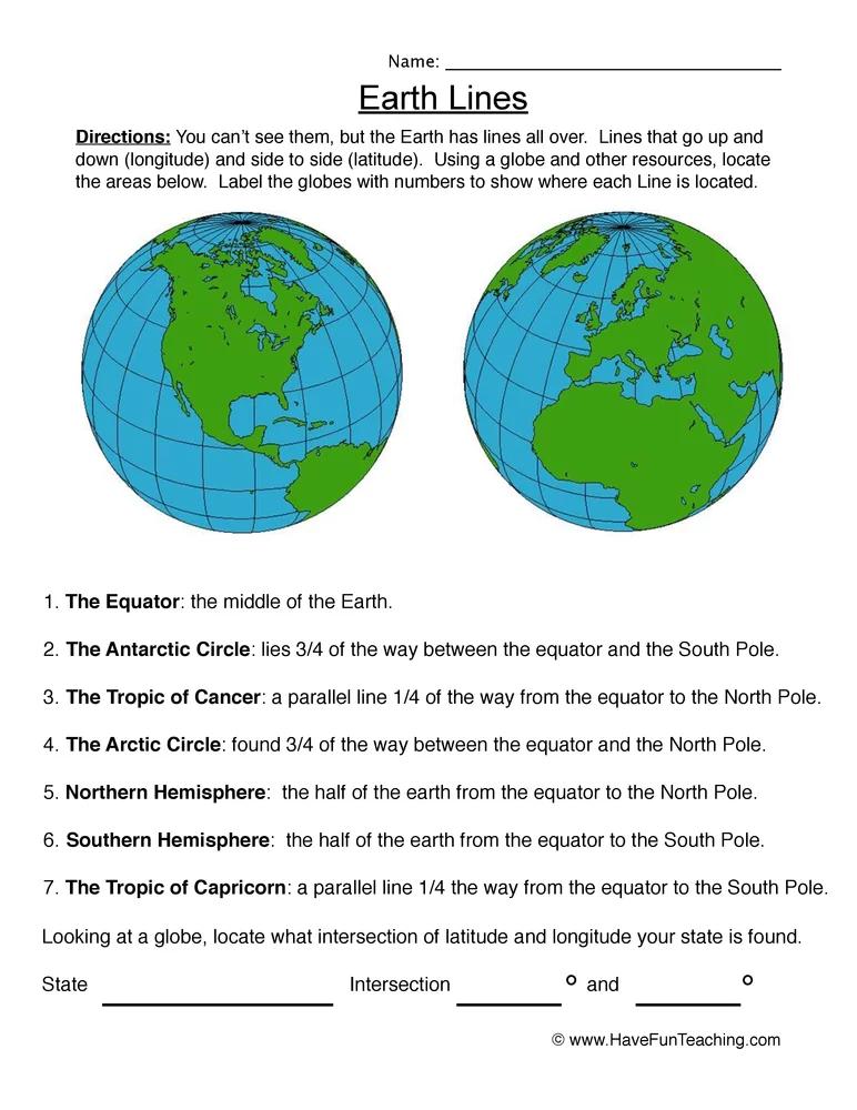 Planet Earth Pole To Pole Worksheet - worksheet