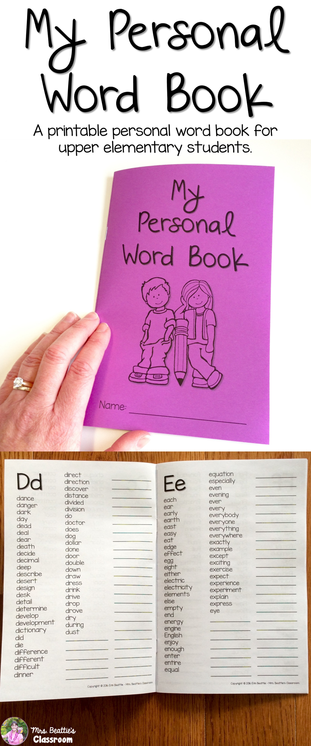 personal dictionary upper grades dolch fry word lists plus