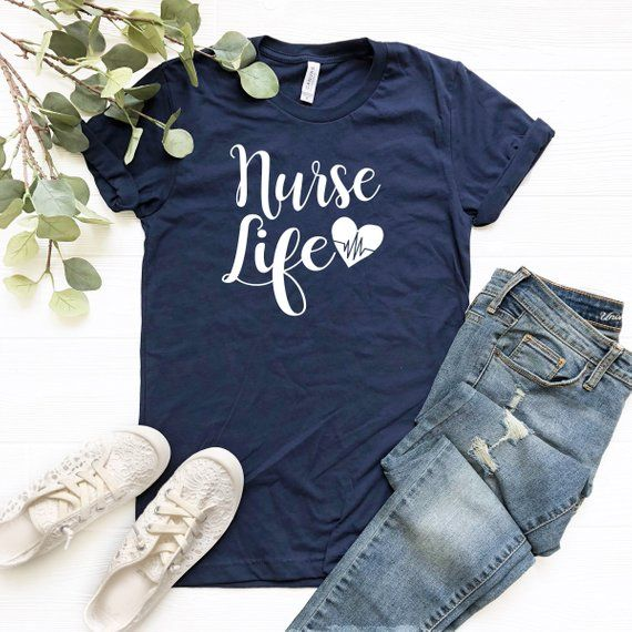 Nurse life shirt, Nurse shirt, Gift for Nurse, Nursing shirt, Nurse gift, Cute Nurse Shirt, Nursing Student tee, Valentine's gift #nursingstudents