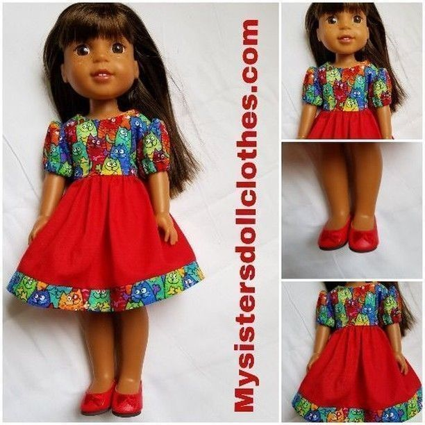 Handmade Doll Clothes for Wellie Wishers and American Girl.   #welliewisher #americangirl #dollshoes #logan #americangirldollcrafts