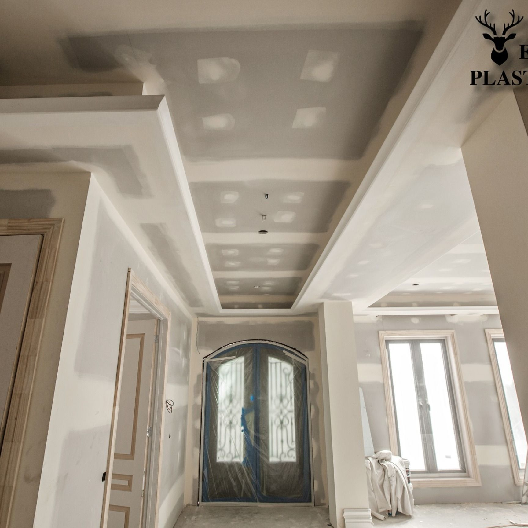 High End Luxury Plastering Finished Suspended Ceiling