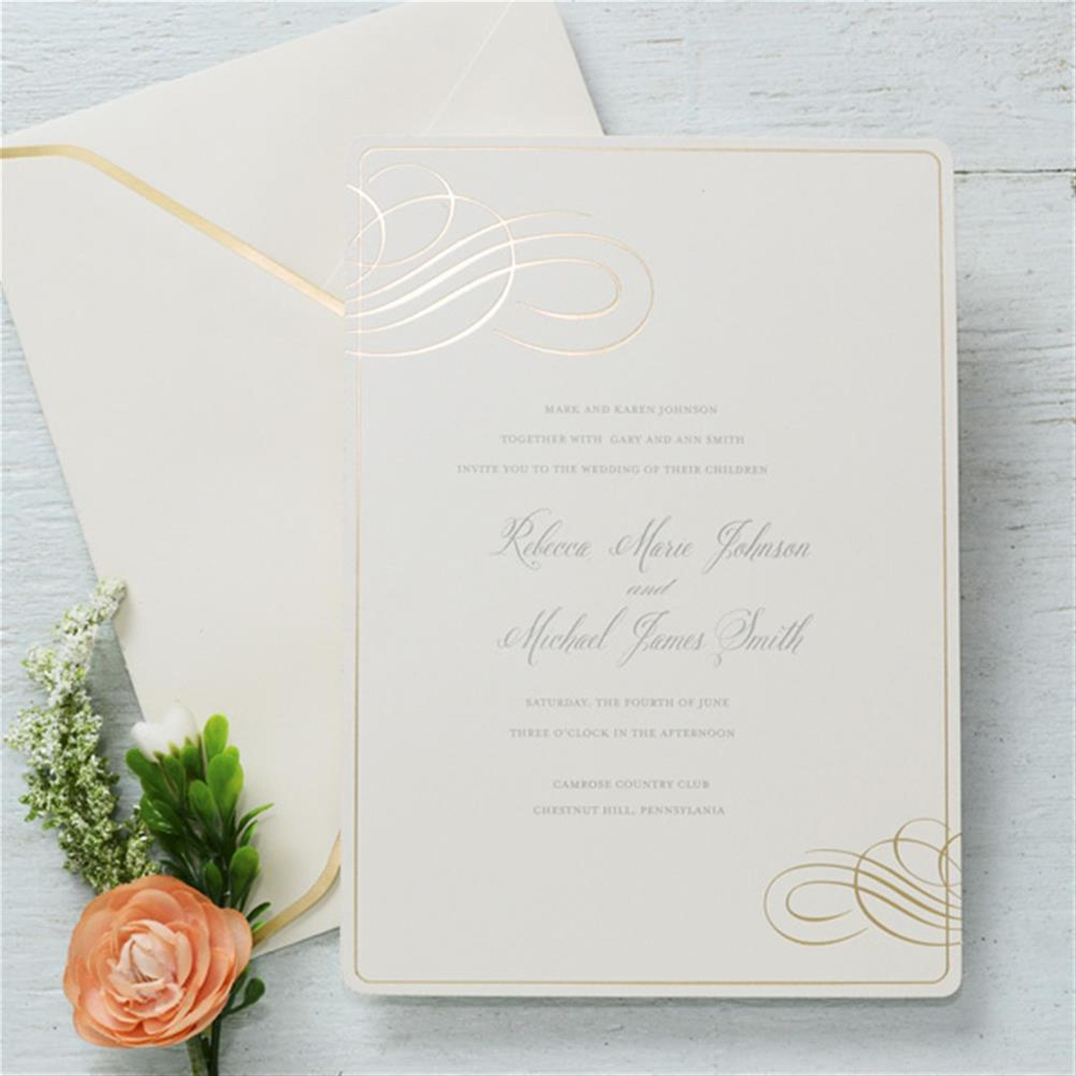 Gold Foil Embossed Invitations | Wedding Invitations | Pinterest ...