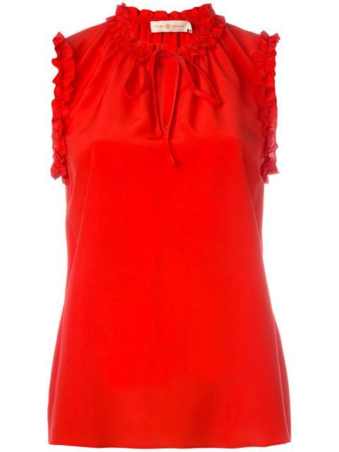 TORY BURCH Lace-Up Neck Tank Top. #toryburch #cloth #flats