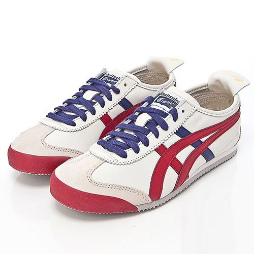 official photos 9ae5d a1595 Brand New Asics Onitsuka Tiger Mexico 66 Shoes White Red T15 ...