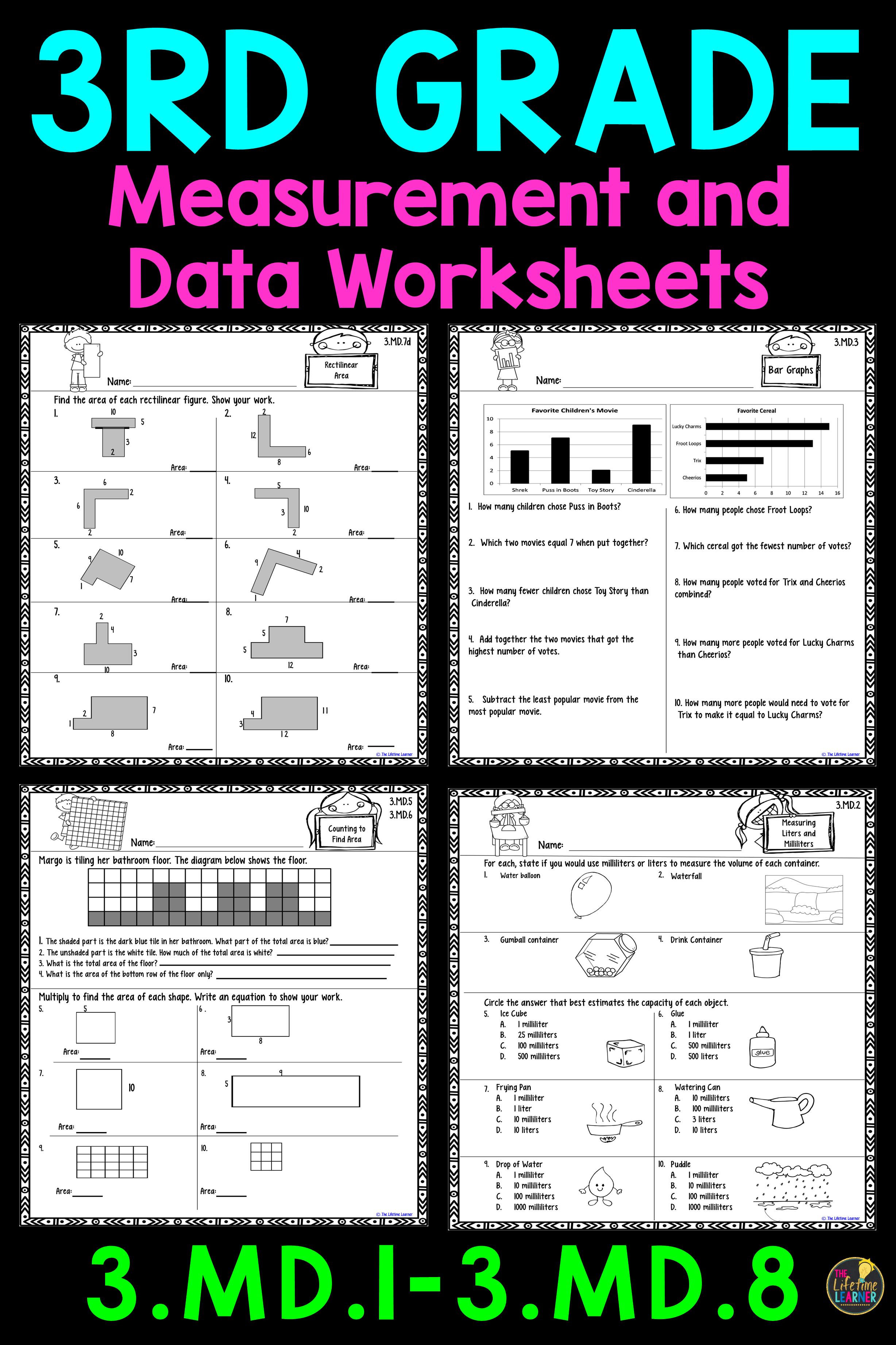 3rd Grade Measurement And Data Worksheets 3rd Grade Math Worksheets 3rd Grade Math Common Core Math Worksheets